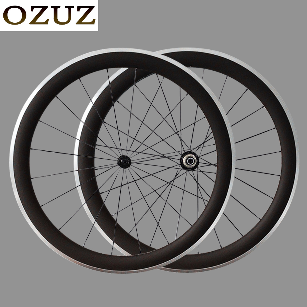Alloy Brake Surface OZUZ 50mm Clincher 700c Aluminum Bicycle Wheelset Carbon Wheels Bike Wheels 23mm width gub aluminum v brake road bike wheels 42mm cheap wheels with alloy brake surface clincher wheelset 700c 10 11speed compatible