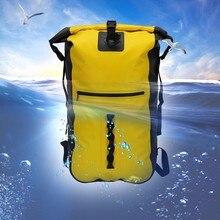 Gzl Водонепроницаемый дорожные сумки для мужчин и женщин Водостойкой Сухой Мешок HASP рюкзак 40L большой Ёмкость плавающие на лодке Каякинг camp