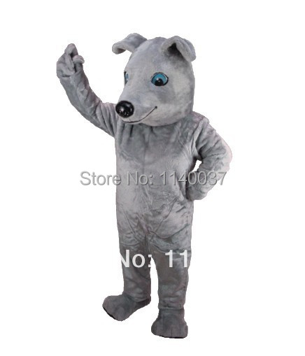 mascot Best Price Greyhound dog Mascot Costume Cartoon Character carnival costume fancy Costume party free ship