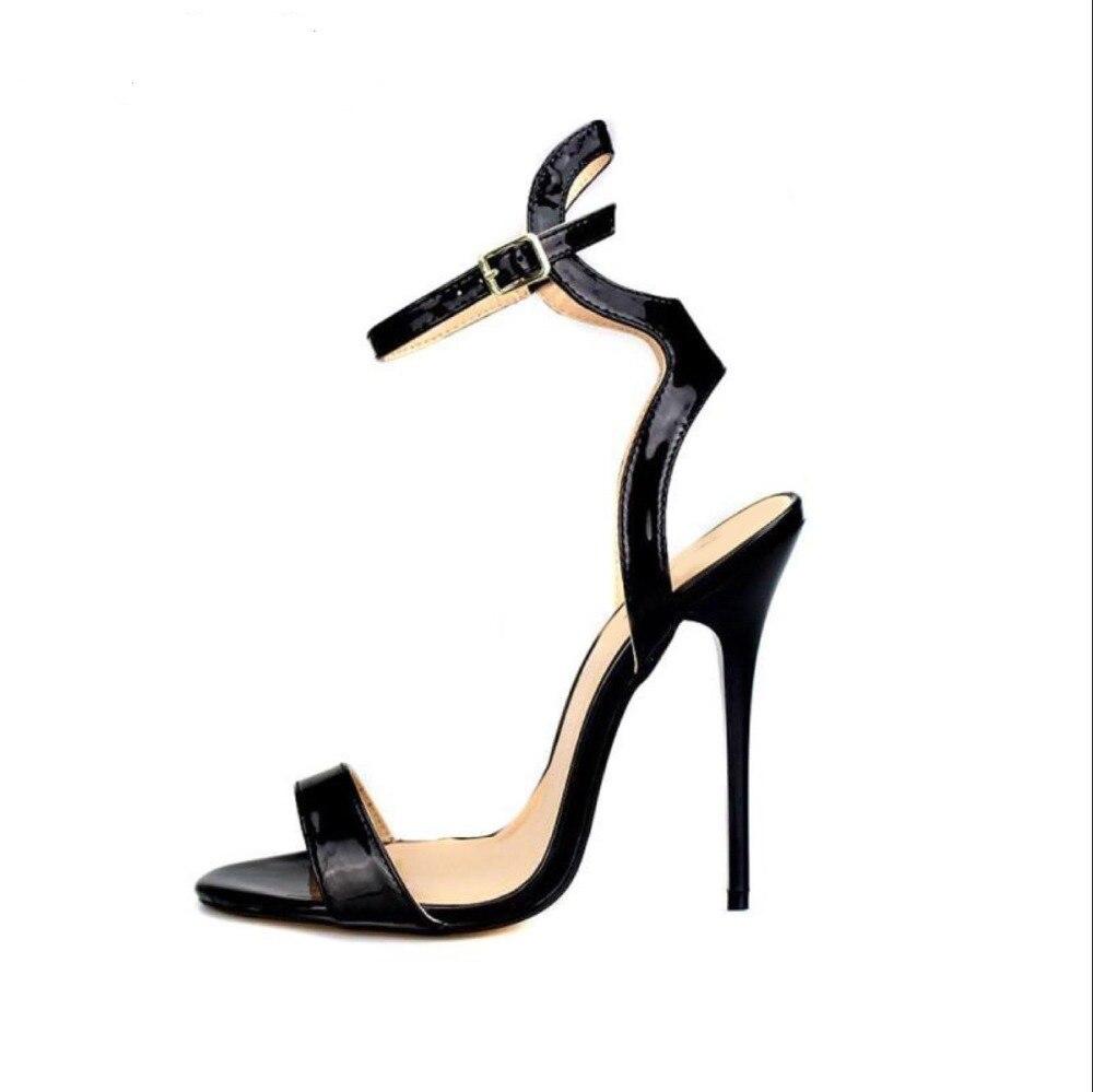 Mostrar Estilo Mujeres Tamaño Tacones Moda Partido Thin 13cm Vestido Sandalias Más T De red 19 13cm Del Las 9 etapa Altos Roma Black IPqpdI