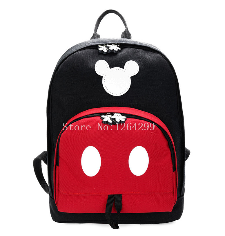 New Fashion Mickey Girls Boys Oxford Small School Bags Kids Backpack Bag For Children