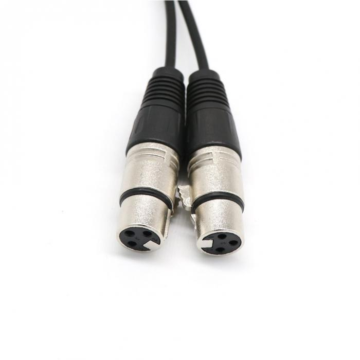 1 Pc/ 2Pcs/ 5Pcs 3 Pin XLR Y Cable Mic Splitter Microphone Audio ...