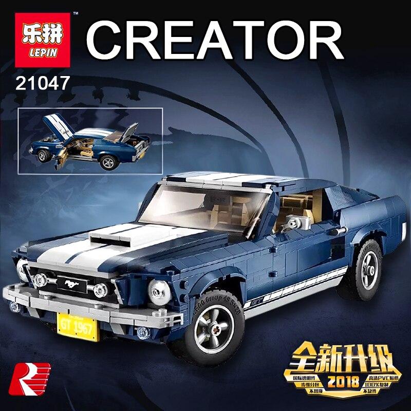 Nouveau LEPIN 21047 Créateur D'experts Ford Mustang Compatible Légion 10265 Ensemble blocs de construction Briques jouets éducatifs De Noël Cadeaux