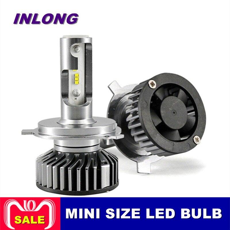 INLONG Version Améliorée 2 Pcs Voiture Phare H7 LED H4 H1 H11 880 9005 9006 9012 60 W 12000LM LED auto Phare Brouillard Lumières Ampoules
