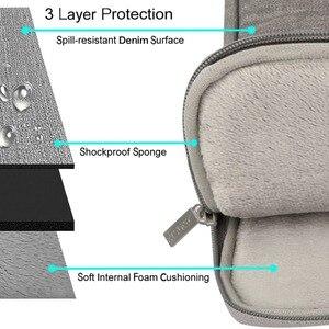 Image 3 - MOSISO gri dizüstü bilgisayar kol çantası Macbook hava 11 13 Pro Retina 13 15 inç için Lenovo/Dell/acer/HP/Xiaomi dizüstü bilgisayar çantaları