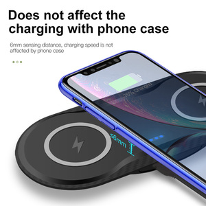 Image 4 - Station de chargement rapide 20W pour Samsung S20 S10 S9 10W double chargeur sans fil Qi pour Apple iPhone 11 XS XR X 8 Airpods Pro