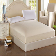 100% polyester Solid Fitted Sheet With Elastic Band Bed Sheets Adult Mattress Cover Size 120x200/150x200/180x200cm