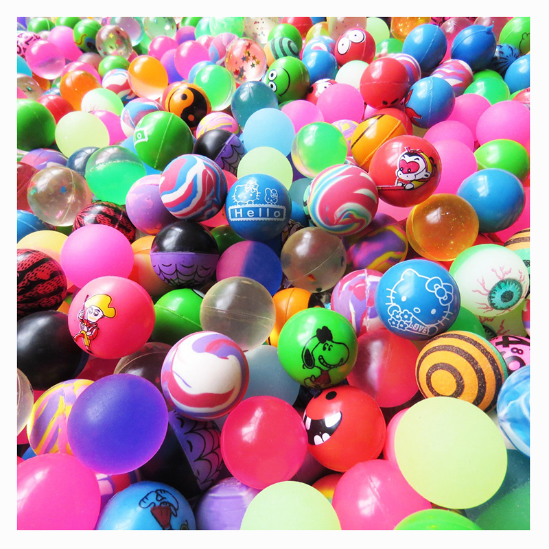 10pcs Children Toy Ball Colored Bouncing Ball Rubber Outdoor Toys Kids Sport Games Elastic Color mixing Juggling Jumping Balls