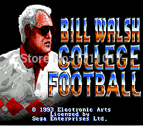Bill Walsh Gollege Football 16 bit MD Game Card For Sega Mega Drive For Genesis