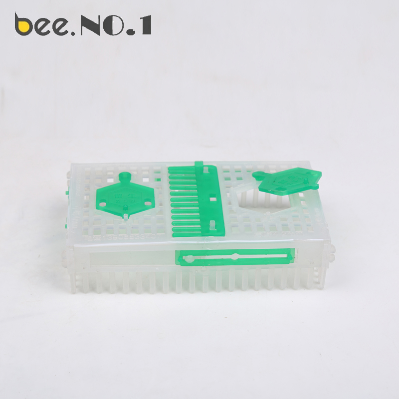 Bee NO.1 Beekeeping Box Queen Bee Green Plastic Box Position Two Apis Cerana Light and Durable Beekeeping Tools Bee Cage
