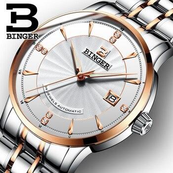 mejor elección grandes variedades elegir oficial Relojes de vestir de negocios clásicos de hombre reloj de pulsera de acero  de cuerda automática de alta calidad 24 joyas reloj mecánico calendario ...