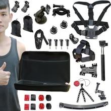 GoPro Go Pro Accessories Set for Gopro Hero 4 3+ 3 2 Sjcam SJ4000 SJ5000 SJ6000 SJ7000 for Xiaomi Yi Wifi Action Camera set kit