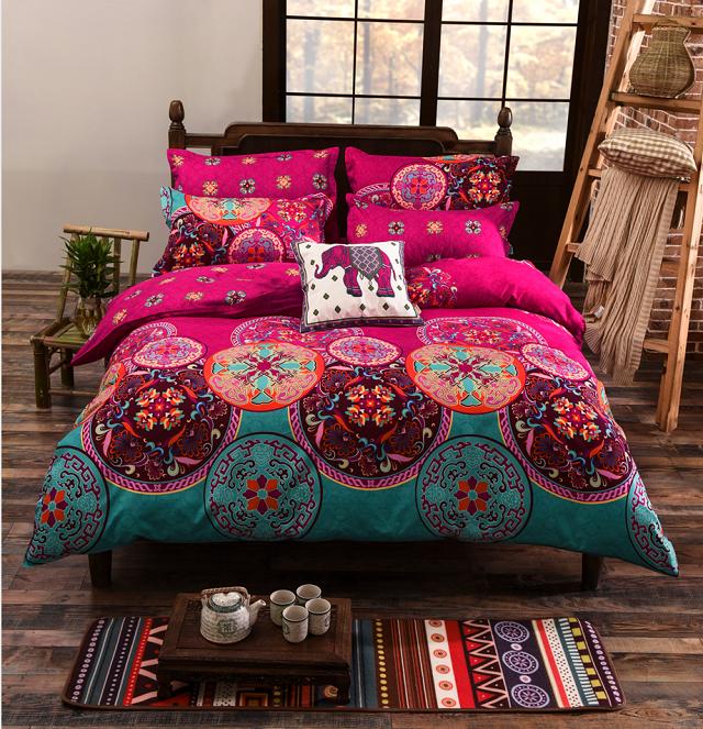 USA Europe Russian <font><b>Size</b></font> Bedding Sets King <font><b>Size</b></font> Bohemian Duvet Cover Set <font><b>Bed</b></font> Linens Quilt cover Sheet Set Bedding Bedclothes