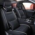 (Vorne + Hinten) luxus Leder auto sitz abdeckung 4 Saison Für Peugeot 205 206 207 2008 3008 301 306 307 308 405 406 407 automobil