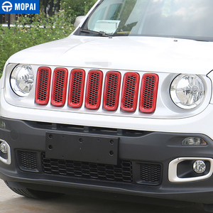 Image 2 - MOPAI ABS Auto Außen Insert Trim Kühlergrill Abdeckung Dekoration Aufkleber Für Jeep Renegade 2015 2016 Auto Styling