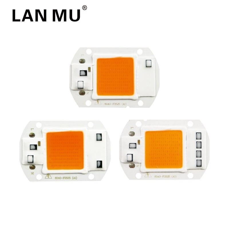 LED Grow Light Chip Full Spectrum Input 110V 220V AC 20W 30W 50W For Indoor Plant Seedling Grow And Flower COB Chip Lamp