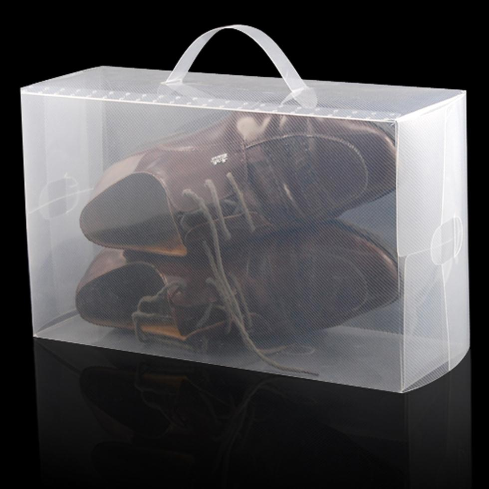 High Quality 5 X Clear Plastic Mens Shoe Storage Boxes