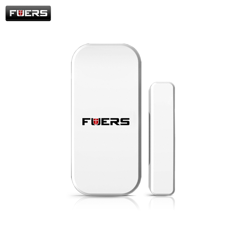 Fuers 433MHz Door Window Alarm Sensor Wireless Magnetic Switch Contact Detector Signaling for Intruder Security Alarm System chuangkesafe dwc 102 chuango intruder detectors wireless door window contact dwc 102 for g5 g3 a11 b11 non alone free shipping