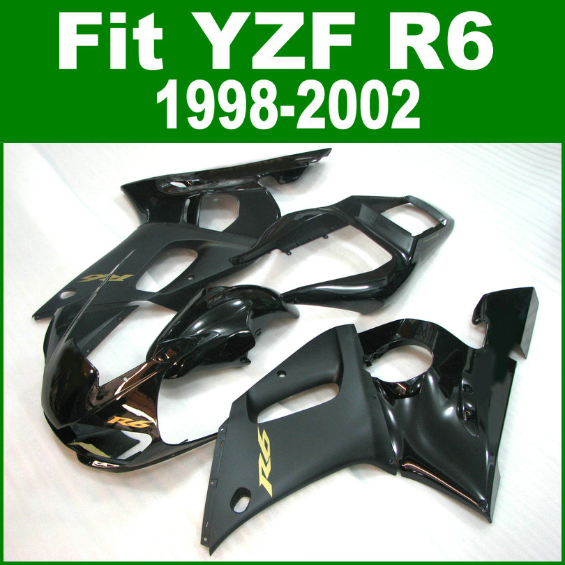100%new Fairings For YAMAHA R6 98 1998 2002 top-selling Fairing kit ( Matte & glossy black ) ll05 hot sales yzf600 r6 08 14 set for yamaha r6 fairing kit 2008 2014 red and white bodywork fairings injection molding