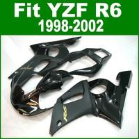 100%new Fairings For YAMAHA R6 98 1998 2002 top selling Fairing kit ( Matte & glossy black ) ll05