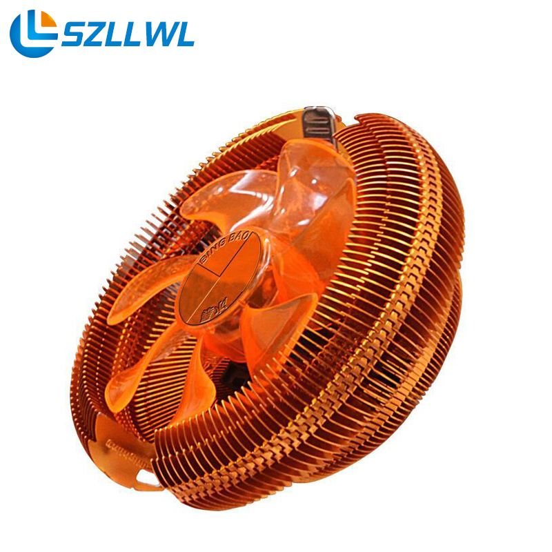 Temperature control mute copper CPU heat sink fans desktop PC fan cooler cooling for AMD cpu fan 775 1155 pcooler s90f 10cm 4 pin pwm cooling fan 4 copper heat pipes led cpu cooler cooling fan heat sink for intel lga775 for amd am2