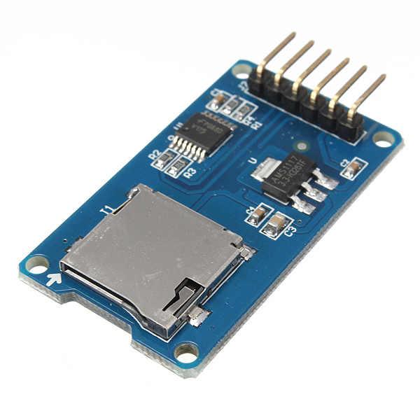Meilleure Promotion Micro TF carte mémoire bouclier Module SPI Micro adaptateur pour Arduino nouvelle unité électrique de haute qualité
