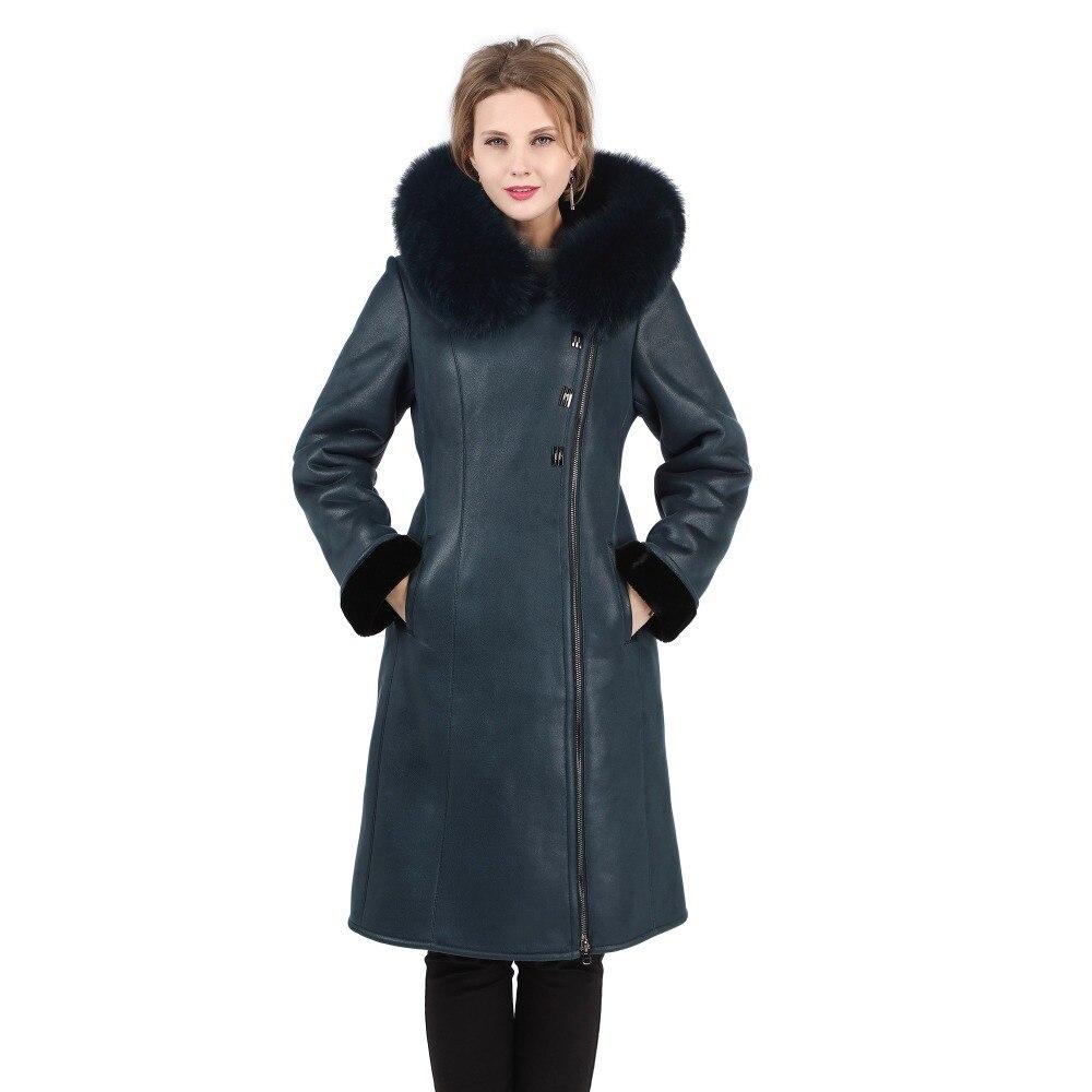 Зимние теплые Для женщин Повседневное пальто с мехом элегантные пальто из искусственного меха с натуральным лисьим мехом на капюшоне пальт