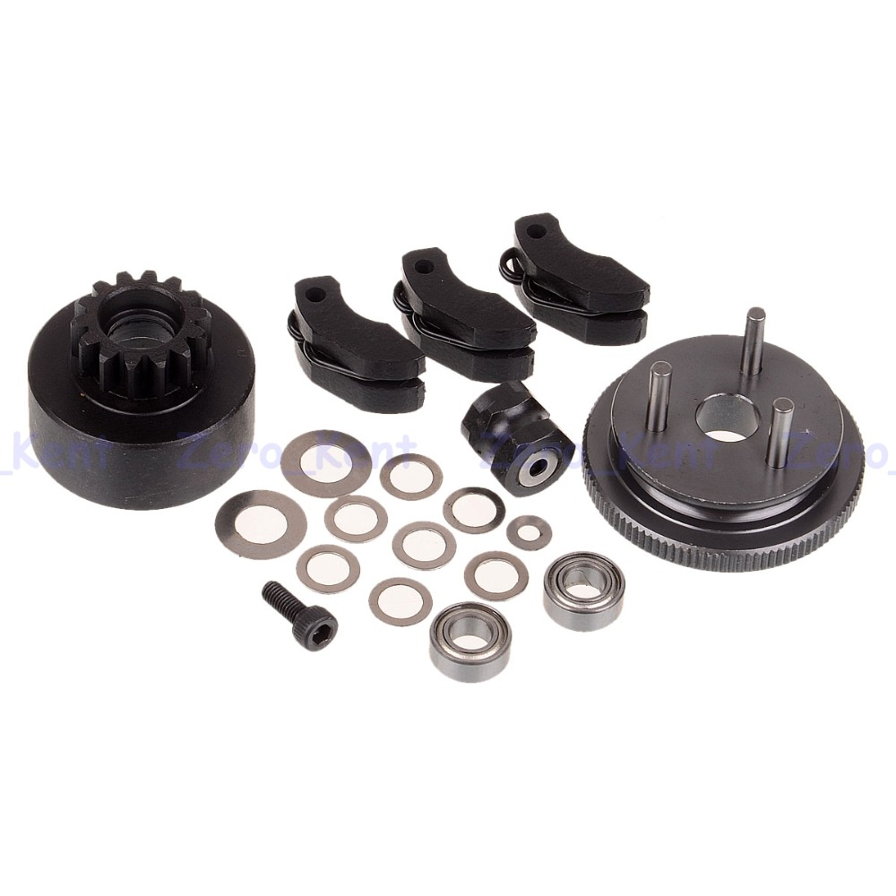 81020 Clutch Bell Sets For HSP RC 1/8 On-Road Car Off-Road Truck 94081 94086 02023 clutch bell double gears 19t 24t for rc hsp 1 10th 4wd on road off road car truck silver