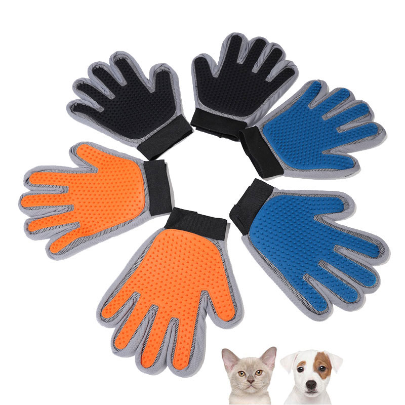 Pet dog Grooming Glove 333 needles polychrome silicone massage and bath mittens cat hair removal gloves comb