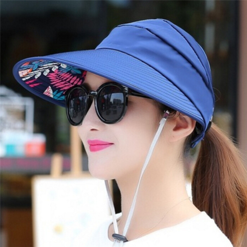 e96cc7d0 Summer Sun Hats Pearl Packable Sun Visor Hat With Big Head Wide Brim Beach  HatJH Clothing, Shoes & Accessories Women's Accessories