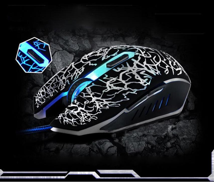 Professional Colorful Backlight 4000DPI Optical Wired Gaming Mouse Mice PC Computer Wireless for Laptop DROPSHIP Jan 18