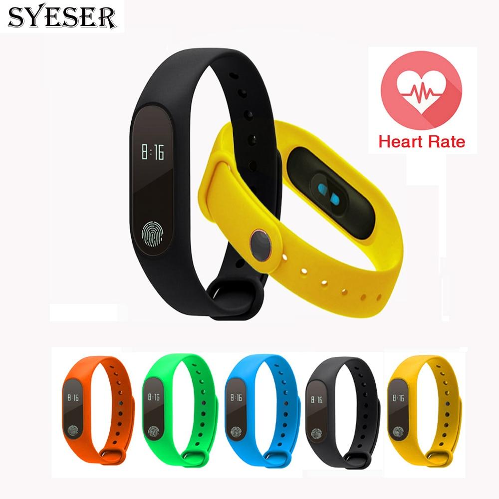 imágenes para Syeser banda pulsera pulsómetro m2 inteligente sleep rastreador de fitness podómetro pulsera smartband para android pk mi banda 2