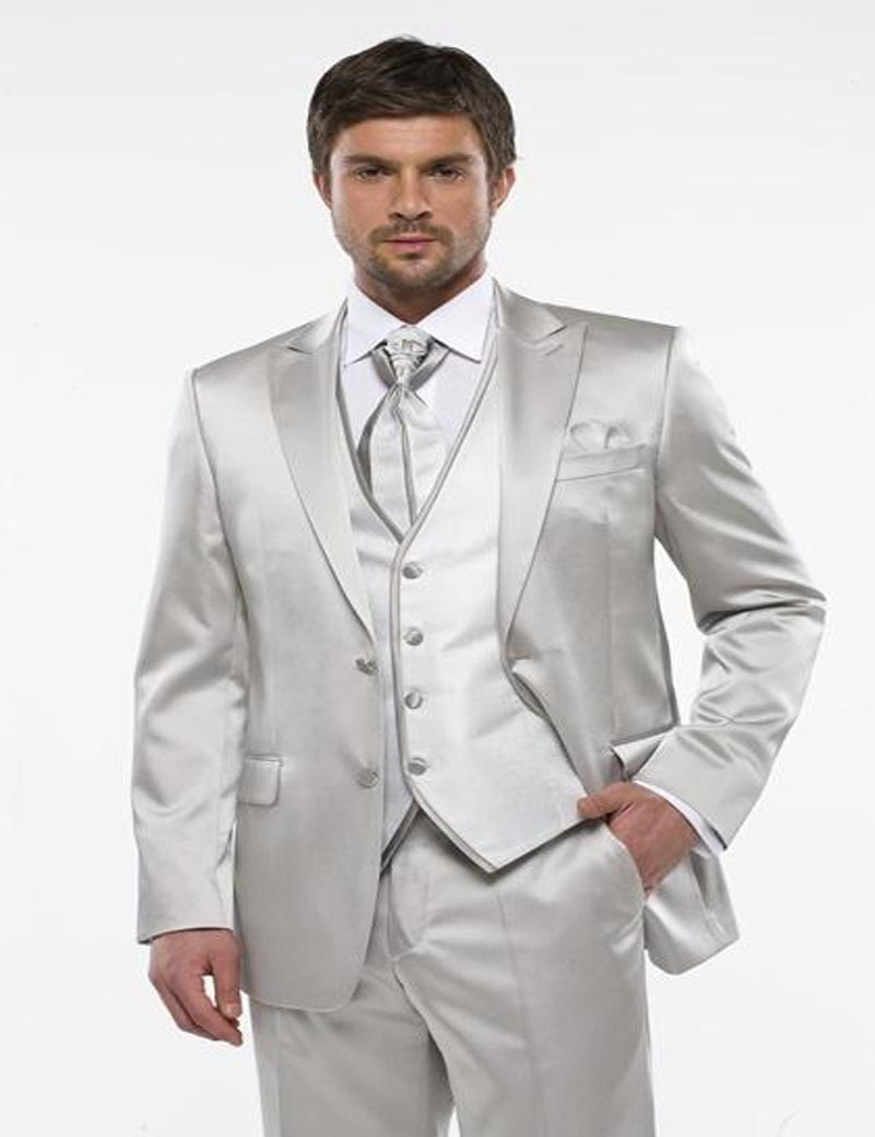 Popular White and Silver Prom Suit-Buy Cheap White and Silver Prom