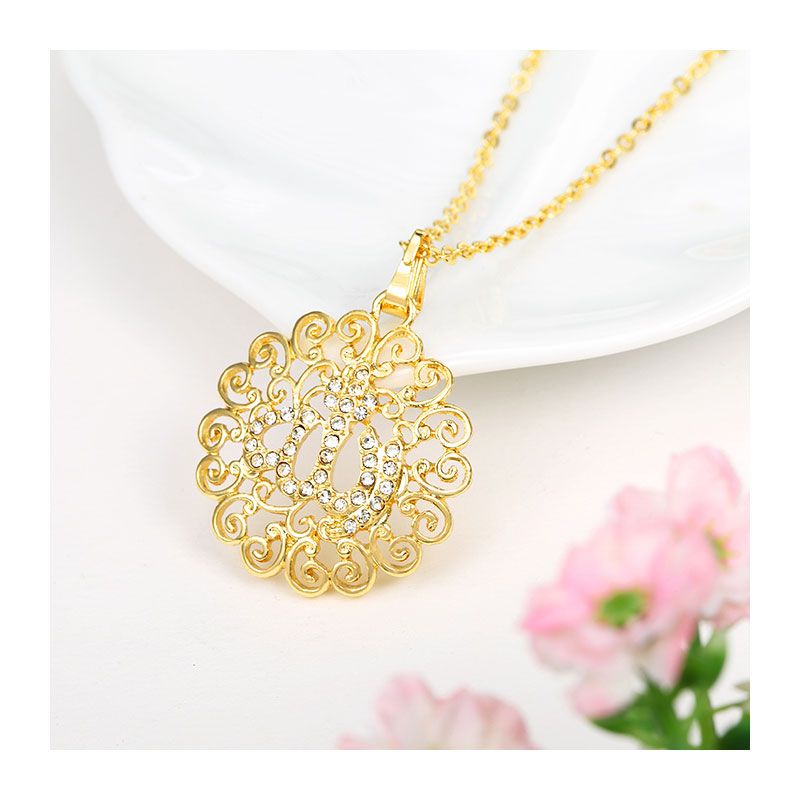 Allah muslim fine jewelry necklace Gold Color Necklaces Pendants pendant fashion crystal islamic jewellery