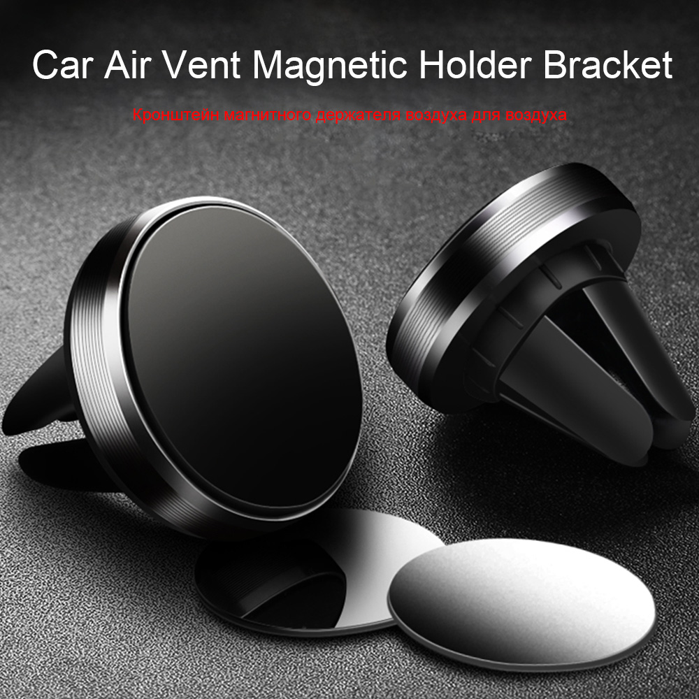 magnetic phone holder and stand for car with gps air vent mount for ios and android