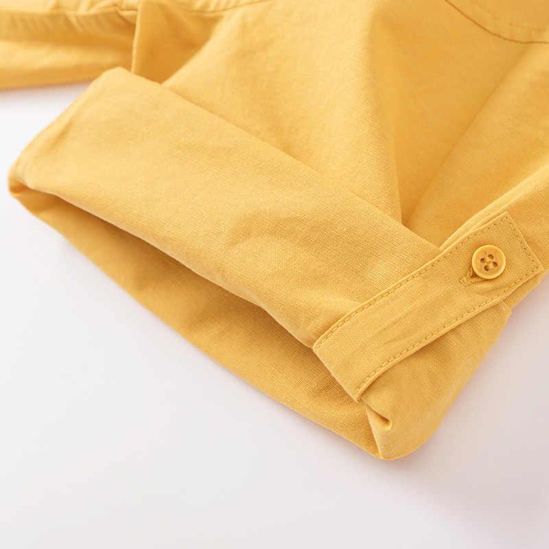 Blusa de manga media de mujer SEMIR Camisa de algodón con cuello de mujer ajuste Regular con cintura cónica para primavera otoño