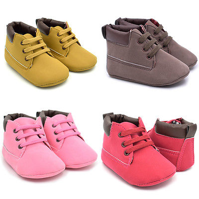Infant Toddler Girl Baby Crib Shoes Boot Newborn Soft Sole Martin Shoes Moccasin