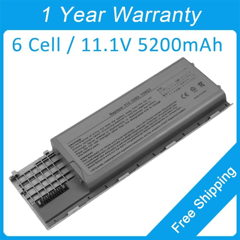 New 6 cell laptop battery for dell Latitude D630 UMA D631N D620 0KD489 0KD491 0KD492 0TD116 0TD117 0TD175 0HX345 0MJ456