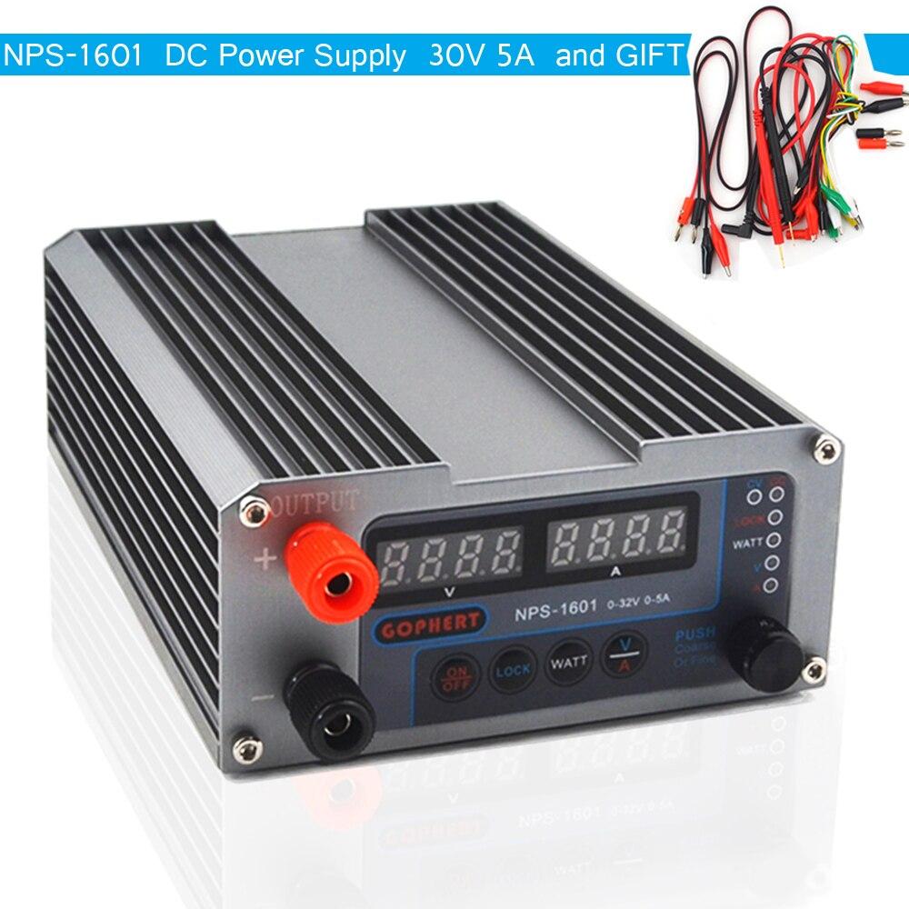 NPS-1601 Version Mini commutateur numérique réglable DC alimentation WATT avec fonction de verrouillage 0.001A 0.01V 32V 30V 5A 3205II mis à niveau