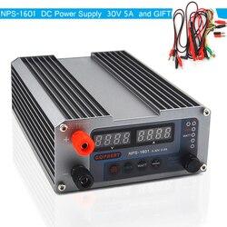 NPS-1601 versão mini ajustável digital interruptor dc fonte de alimentação watt com função de bloqueio 0.001a 0.01 v 32 v 30 v 5a 3205ii atualizado