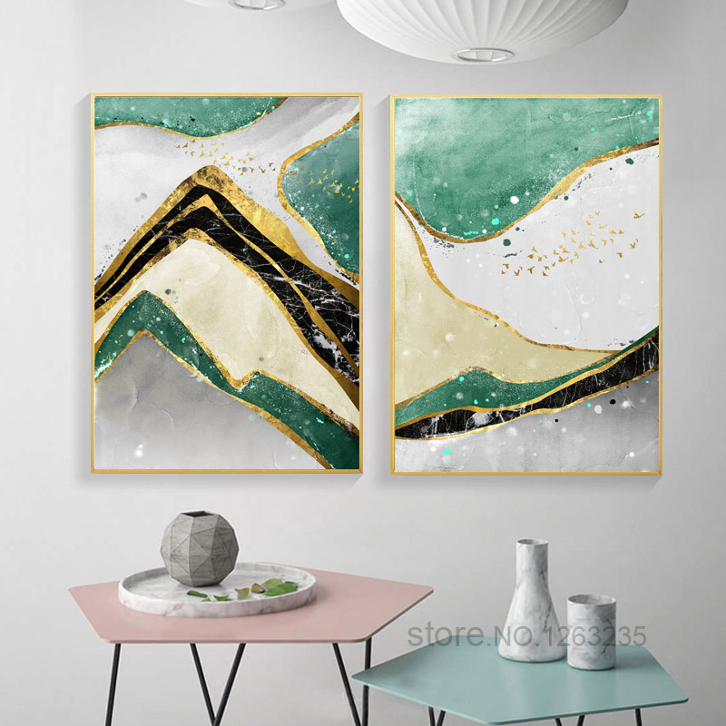 Geometry Stone Pattern Nordic Poster Agate Wall Art Canvas Painting Posters Pictures Home Bedroom Decoration Prints Unframed in Painting Calligraphy from Home Garden