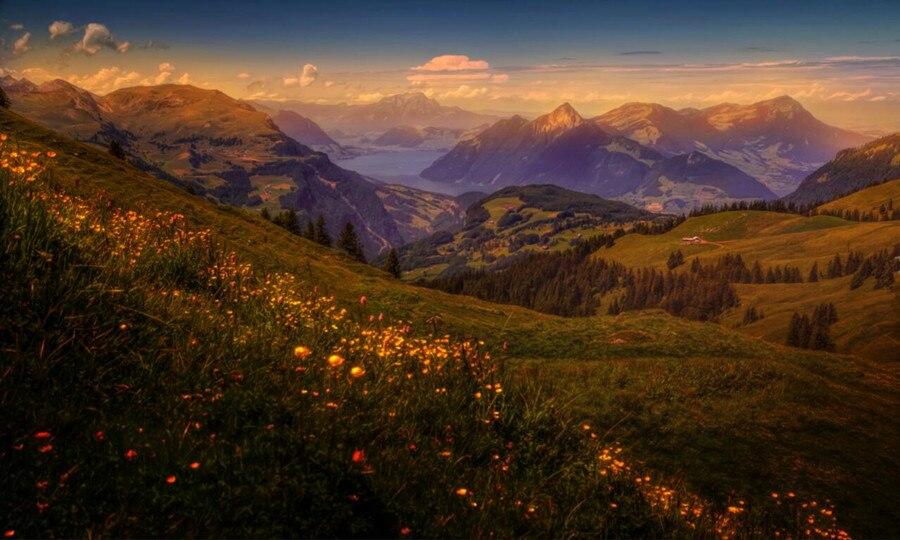 Aliexpress Benutzerdefinierte Schweiz Landschaft Berge Flsse Tapete Foto 3d Wohnzimmer Sofa Tv Wand Schlafzimmer Wandbild Von