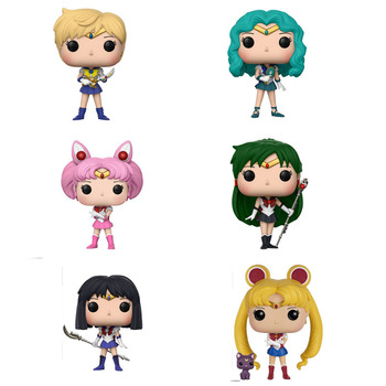 10cm Sailor Moon&Luna Theme Figure Statue Hare Character Action Doll Chibi Moon Neptune Gift For Kids
