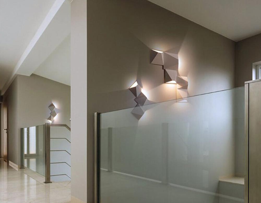 HTB17z4plEl7MKJjSZFDq6yOEpXau - LED Modern Geometric Iron Acryl Black White DIY Magic Box LED Lamp LED Light Wall lamp Wall Light Wall Sconce For Store Bedroom