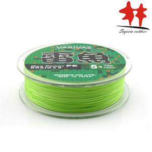 Image 5 - 8 Stands line: VARIVAS brand Light Green 8 weaves Max Power PE braided fishing line Japan L 20 110lb Good Quality