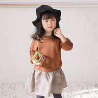 Mother Daughter Dresses Autumn Baby Girl Plaid Dress Fashion Patchwork Casual Sweaters Dress Kids Pullovers Dress Party Clothes