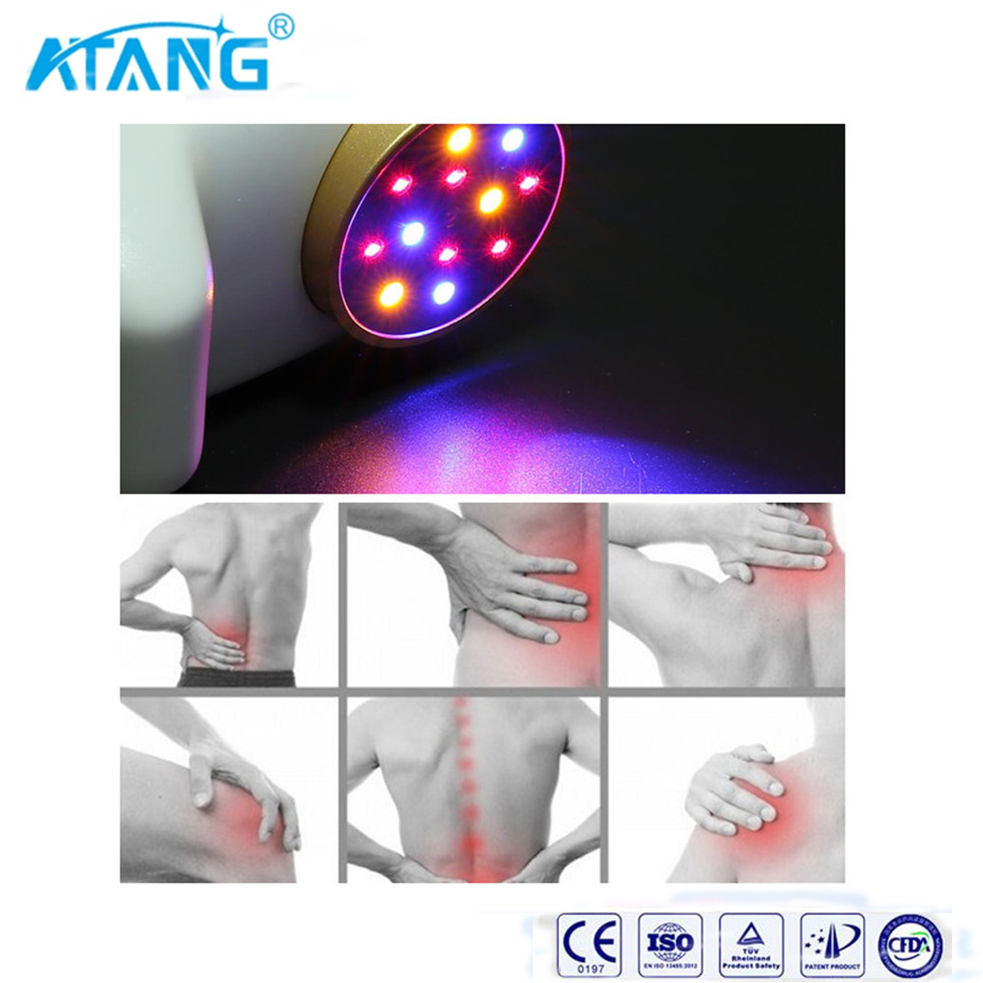 ATANG 2018 New Red Cold Laser Blue And Yellow Light Therapy Pain Relief Equipment Hand Held Pain Gone Pen Arthritis+Gift