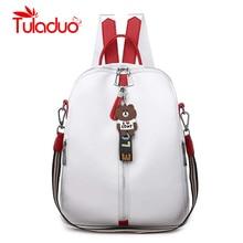 цены на Large Capacity PU Leather Women Backpack Fashion Solid Travel School Bags For Teenager Girls Casual Women Black Backpacks в интернет-магазинах