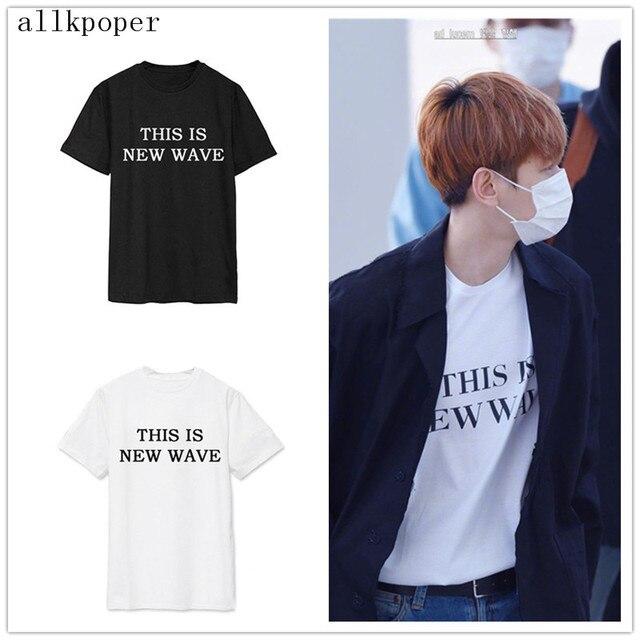 KPOP EXO BaekHyun T-Shirt Sân Bay Thời Trang Áo Thun Thời Trang Tops New