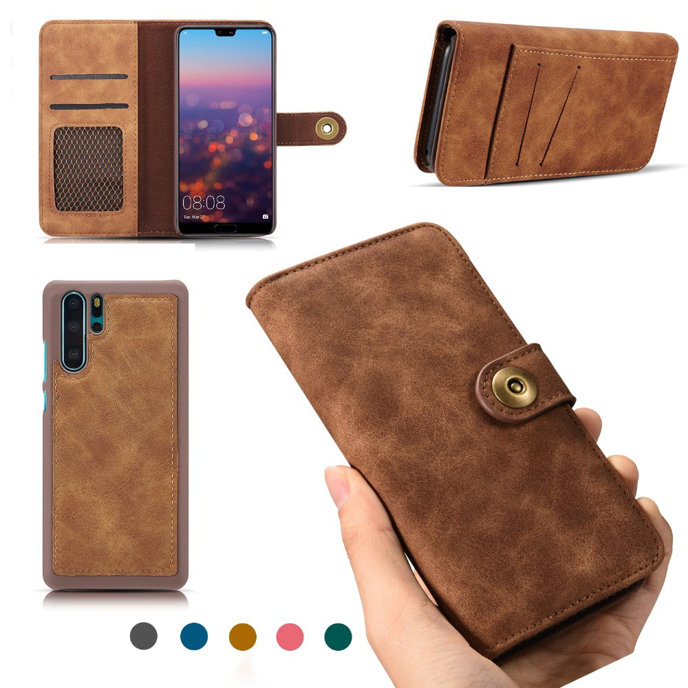 Flip Cover fit for Huawei P20 Lite Business Gifts with Waterproof-case Bags Leather Case for Huawei P20 Lite